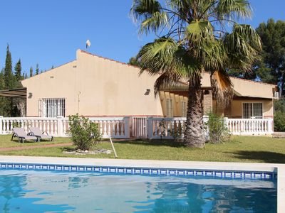 Photo for 3 bedroom villa with private pool and large quiet garden
