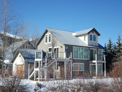 Photo for Luxury Oasis Right on Coal Creek! Hot Tub! Walk to Everything! Quiet Street!
