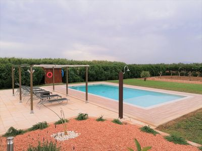 Photo for ☼ Country house near the beach with fantastic wellness pool with water lounger and panoramic view