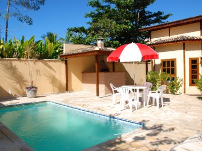Photo for Great house w / swimming pool and barbecue c / 03 bedrooms