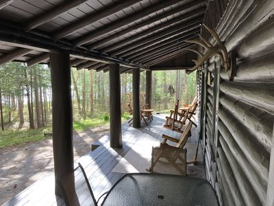Photo for Log Cabin--Very Private--Over 300-Feet Waterfront
