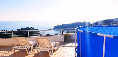 Photo for Double studio with private sea view balcony