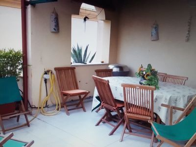 Photo for Charming Home Short Drive From Beach with Pool, Terrace, Tennis Court & Garden; Parking Available