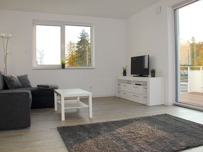 Photo for Exclusive apartment on the Großräschener See with terrace