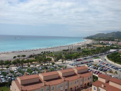 Photo for Apartment with terrace, beach and mountain views