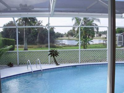 Photo for Beautiful vacation pool home, on Lake Camille (2-6 people same price)