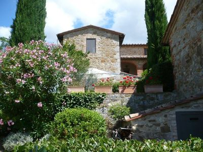 Photo for House in house in restored farmhouse of the Arceno estate 600sqm garden, pool.