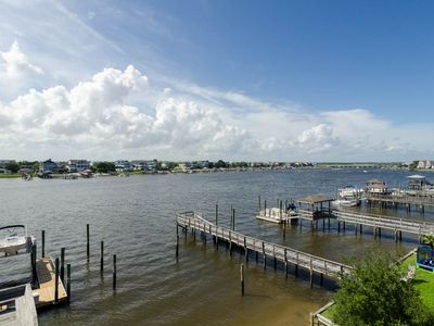 Photo for Gorgeous sound front condo with boat slip and fantastic views!