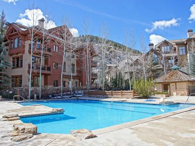 Photo for Outdoor Pool, Private Deck With Firepit and Gas Grill, Walk to Hiking and Mountain Biking