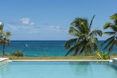 Private ocean front infinity pool