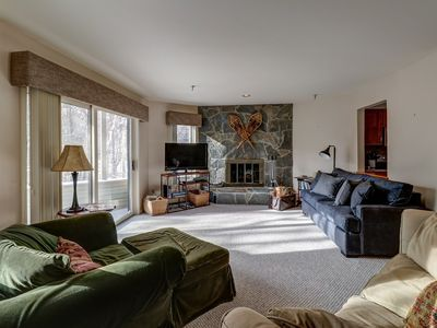 Photo for Family-friendly condo with shared seasonal pool & hot tub - walk to village!