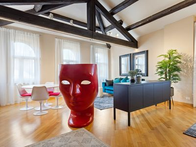 Photo for Stunning 1 bedroom penthouse in the heart of Verona