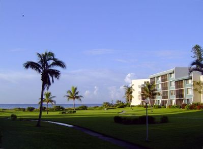 Open view from Loggerhead Cay condominiums to the Gulf of Mexico.