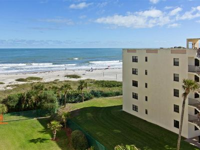 Photo for Sandcastles 416 On The Beach With 2 Balconies, with ocean and  sun set views