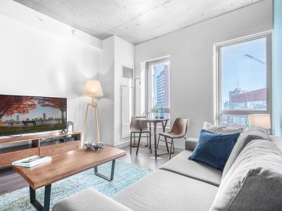 Photo for Bright + Mod Kendall Sq 1BR w/ Gym, walk to MIT by Blueground