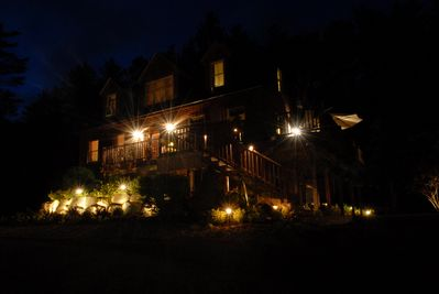 Beautiful nighttime landscape lighting!