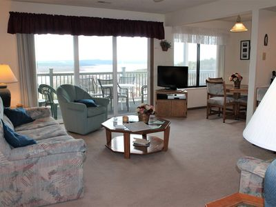 Photo for Classic! 2 bed 2 bath Condo- Boat Slip Included! Large Deck. Fantastic Lake Views- Close to SDC!