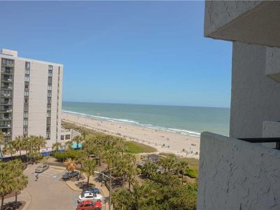Photo for Great Ocean Views, Balcony, Beach Access, Pools, Hot Tub, Lazy River, Elevator, Free Wifi & Parking