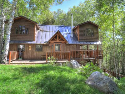 Photo for Tree House - Waterfront home situated in a quiet cove looking at Toothaker Island