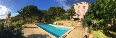 Photo for Domaine du Ministre: charming house with peaceful pool between sea and mountains