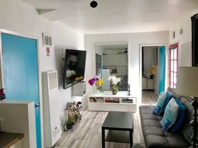 Photo for Trendy & Cozy 4 Blocks to Beach with Covered Patio with BBQ-FREE PARKING!