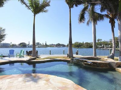 Photo for A stunning waterfront home. Natural pool and spectacular panoramic views across Bimini Bay.