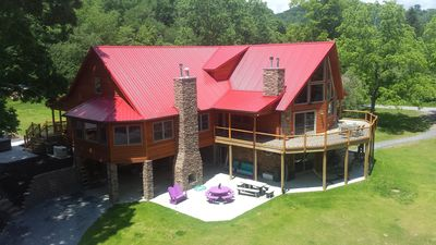 Photo for Stillwater Haven- Upscale Private Riverfront Chalet sleeps up to 20