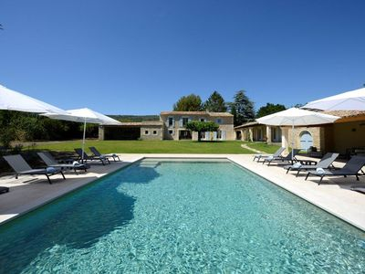 Photo for Prestige property for rent in Gordes, heated and secured pool for 12