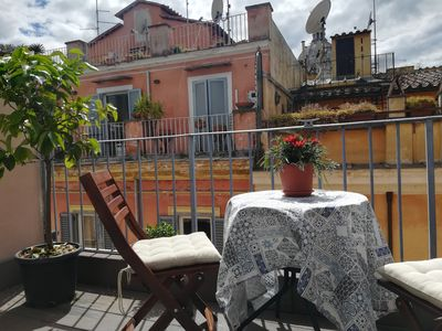 Photo for Lovely Piazza di Spagna Penthouse in Campo Marzio with two Terraces over Rome