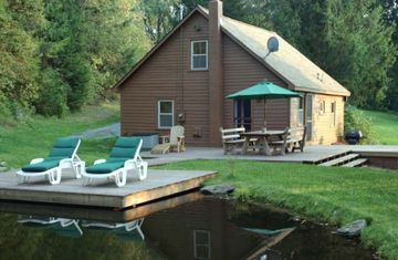 Pondside Cottage - Private with Stream, Pond and Dock right next to the House!