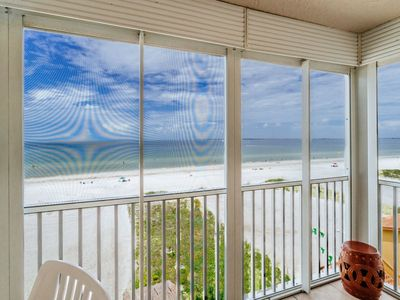 Photo for Fascinating Beach & Gulf Views From Screened Lanai, Located North Island