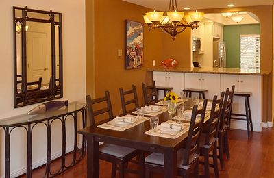 Welcome to your spacious, comfortable dining room for the whole family!