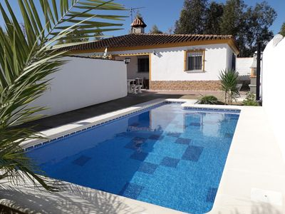 Photo for Villa Alzira 2, swimming pool, air conditioning, internet near the beach for 5 pers.