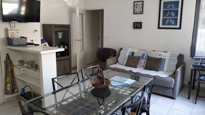 Photo for Pretty F2 with neat decor 50 meters from the beach of Val André