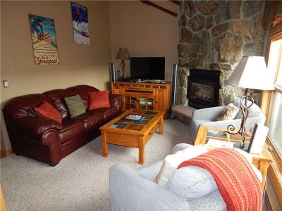 Photo for Updated 2 bedroom with loft unit in Fraser - great family rental with large deck and mountain views