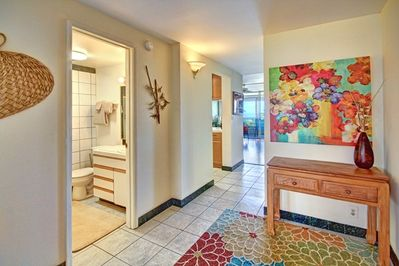 Entry to your condo - bright open floor plan. New wood floors 2015.