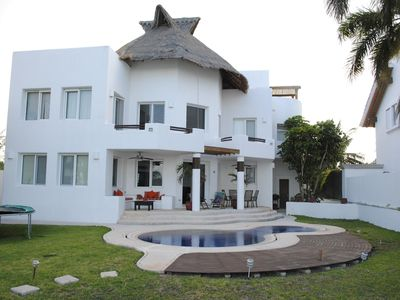 Photo for Beautiful 4 bedroom Beach House on a Private & Peaceful Place in Cancun