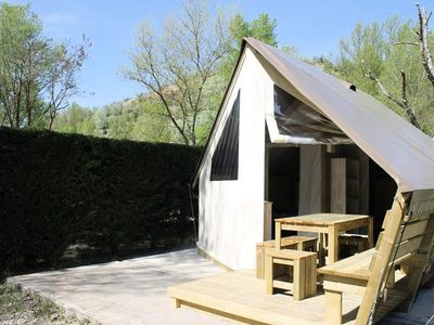 Photo for Camping La Rivière - Ecolodge Toile Confort 3 rooms 4 people without sanitary