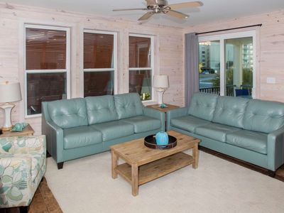 Photo for Pet friendly, super cute cottage located just across the street from the beach!