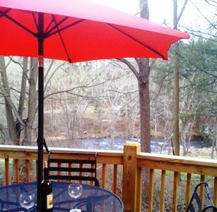 Photo for Quiet, Convenient, Tranquil Riverfront Setting...!!!  Fishing, Tubing, Swimming!