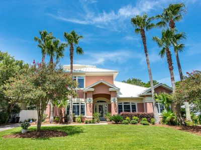 Photo for Coastal Retreat with Private Pool, Lush Courtyard and Sunset Deck Views