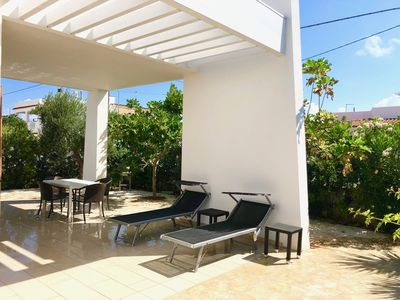 Photo for Brand new, modern Mediterranean holiday house with roof terrace u. sea view