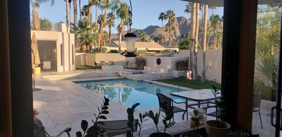 Photo for Incredible entertainers Retreat, walls of glass open up, Mtn Vws,