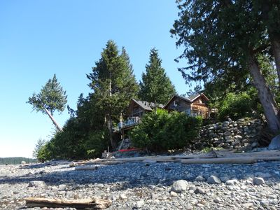 looking up to Heron house, photo taken at low tide (oysters, clams-great dinner)