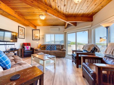 Photo for Stunning views from this updated, oceanfront beach house - dogs OK!