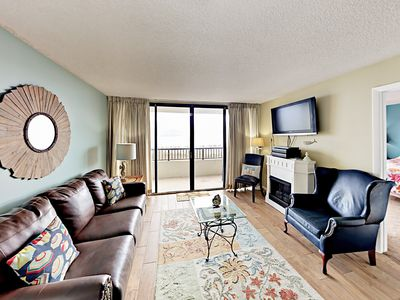 Living Room - Welcome to North Myrtle Beach! Your condo is professionally managed by TurnKey Vacation Rentals.