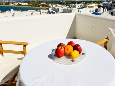 Photo for Paros relaxing studio with view 3 min from beach