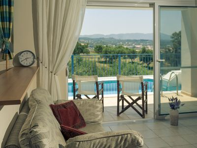 Photo for Lovely 3 bedroom villa with swimming pool  & only 5 mins to beach.
