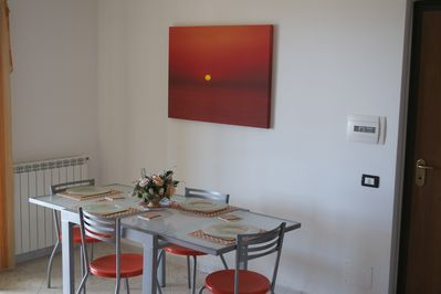 Dining Area with access to terrace and BBQ