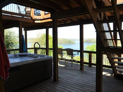 Photo for BEST VIEW ON BEAVER LAKE, WITH HOT TUB AND LOTS OF THINGS TO DO.